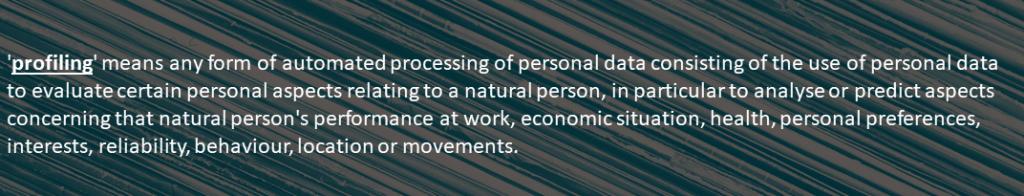 Profilointi ja GDPR – viestinnällinen haaste ja mahdollisuus.