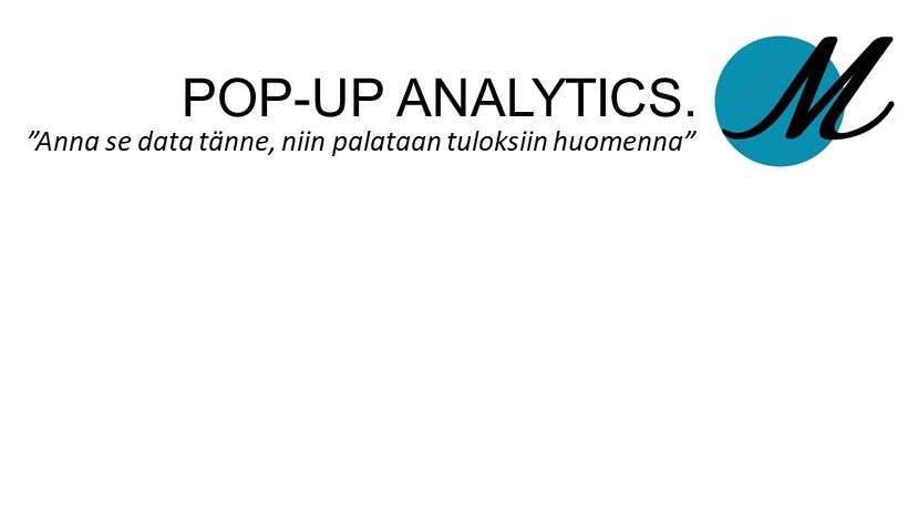 POP-UP Analytics.